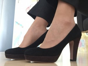 Prada Pumps black-black brown suede