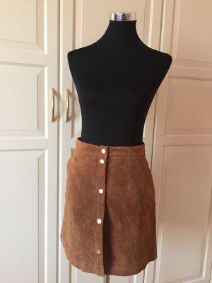 Orsay Falda de cuero color bronce