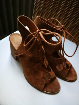 Cox Sandalias romanas marrón claro Gamuza