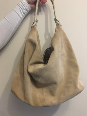 1.2.3 Paris Pouch Bag oatmeal suede