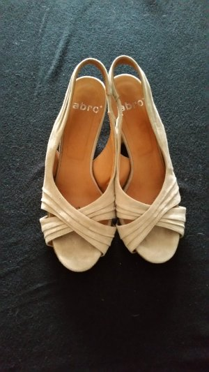 abro High Heel Sandal cream-oatmeal