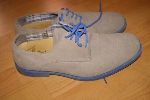 Derby multicolored suede
