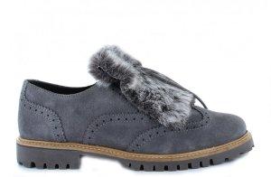 Wildleder Schuhe mit Kunstfell