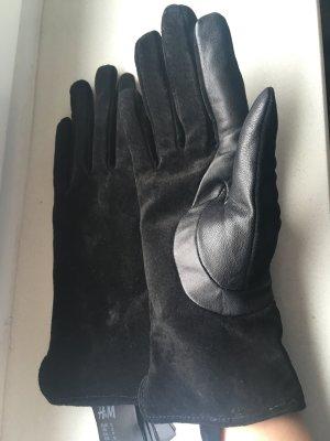 Wildleder Schwarze Handschuhe H&M