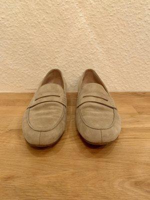 Paul Green Slippers oatmeal-beige suede