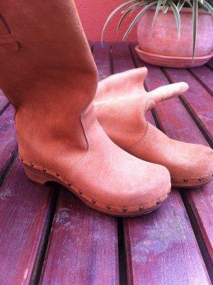 Wildleder Stiefel mit holzabsatz