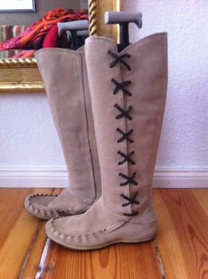 Replay Lace-up Boots beige suede