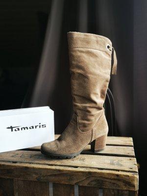 Wildleder Stiefel von Tamaris Gr 37 Echtleder Wildlederstiefel Schaftstiefel Stiefeletten