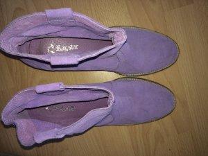 Bottine ajourée violet