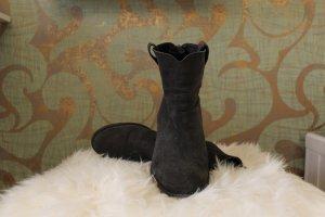 Wildleder Stiefelette Anthrazit-grau, Größe 41