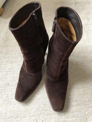 Tod's Booties dark brown-brown