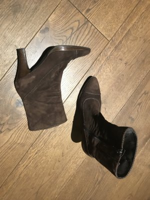 Booties brown leather