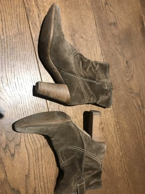 Vic Matie Western Booties camel-sand brown leather