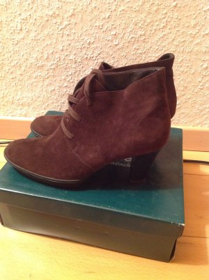 Paul Green Shoes brown red suede