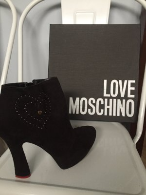 Love Moschino Platform Booties black