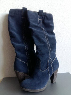 you know you want it Heel Boots blue-steel blue suede