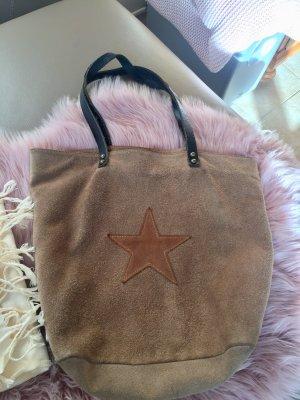 Wildleder Tasche / Shopper mit Stern