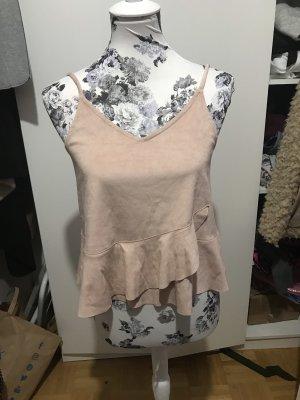 Wildleder Top Oberteil Bluse rosa wunderschön