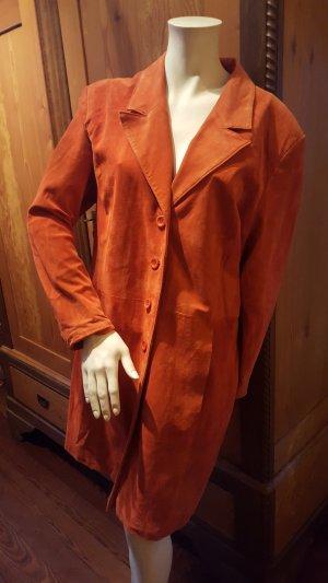 Wildleder Trenchcoat/ Mantel in orange Gr.44/46 von Julia S.Roma