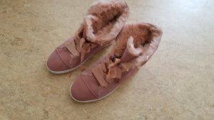 Wildleder Winter-Boots mit Lammfellfütterung