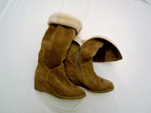 Wildleder#Winter#Stiefel#Salamander#Vintage#warm