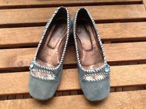 Progetto Bailarinas con tacón Mary Jane azul claro-azul aciano Gamuza