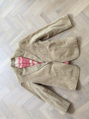 Leather Blazer beige leather