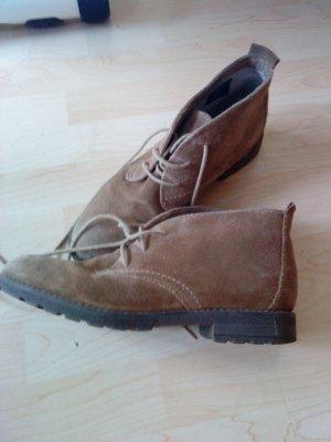 Janet D Low boot brun sable-chameau daim