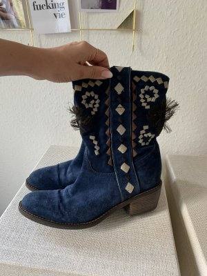 Janet & Janet Western Boots multicolored