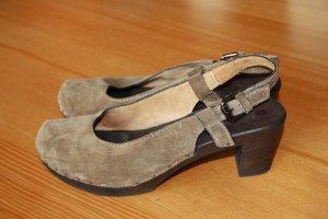 Softclox Heel Pantolettes beige-camel suede