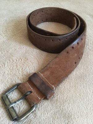 H&M Leather Belt brown suede
