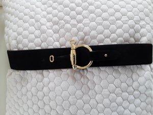 Lauren by Ralph Lauren Cintura di pelle nero Scamosciato