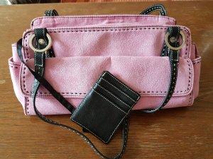 Wildlederhandtasche in pink
