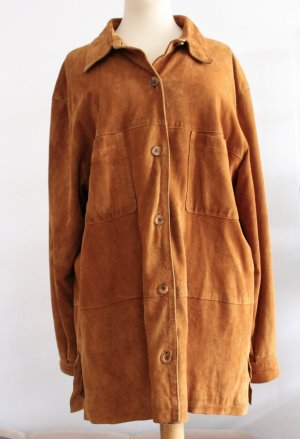 Vintage Leather Shirt beige-light brown suede