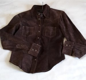 Blouse Jacket dark brown suede