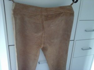 Leather Trousers beige