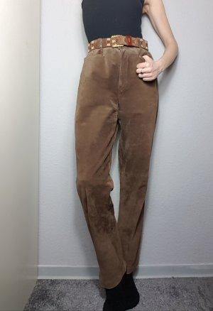 American Vintage Leren broek bruin