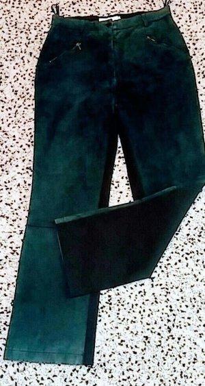 Biba Leren broek donkergroen-zwart