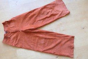Joop! Leren broek donker oranje Suede
