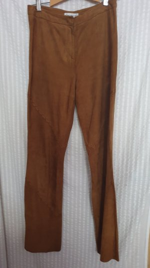 Apriori Leather Trousers camel