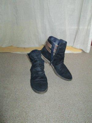 Wildlederimitat-Boots