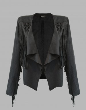 Leather Jacket black imitation leather