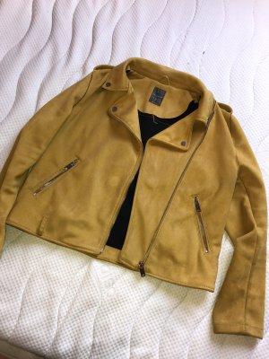 Primark Faux Leather Jacket gold orange