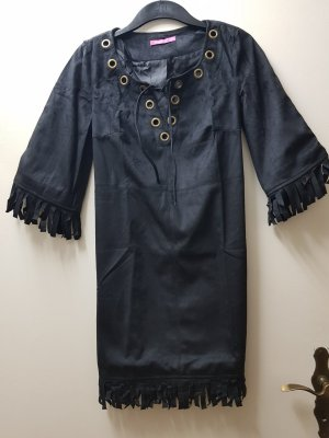 Robe à franges noir