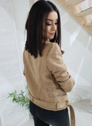 Faux Leather Jacket beige-camel