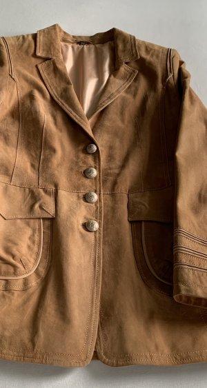 Blazer de cuero marrón claro Cuero