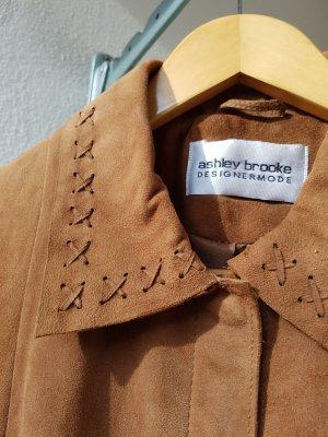 Ashley Brooke Leather Jacket cognac-coloured