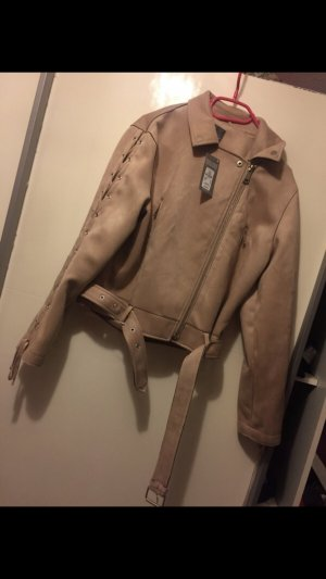 Wildlederjacke in beige 44