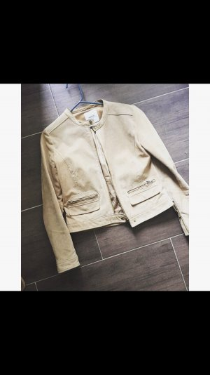 Mango Leather Jacket camel leather
