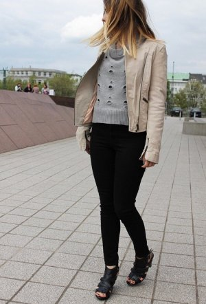 Wildlederjacke in creme